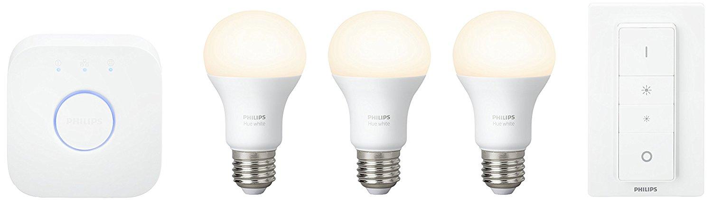 Kit de démarrage 3 ampoules Hue White + pont de connexion + télécommande