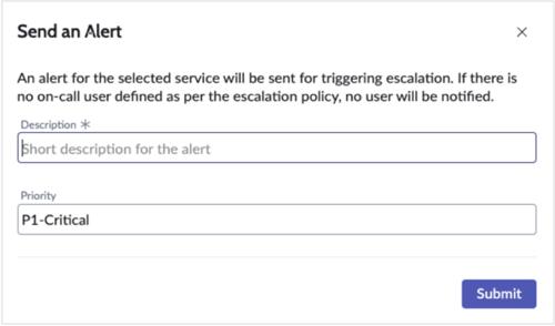 Send an alert form.