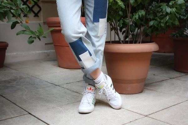 Jean upcyclé patchwork