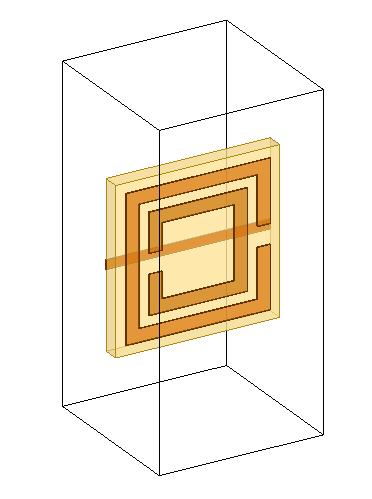 ANSYS HFSS Split Ring Resonator model