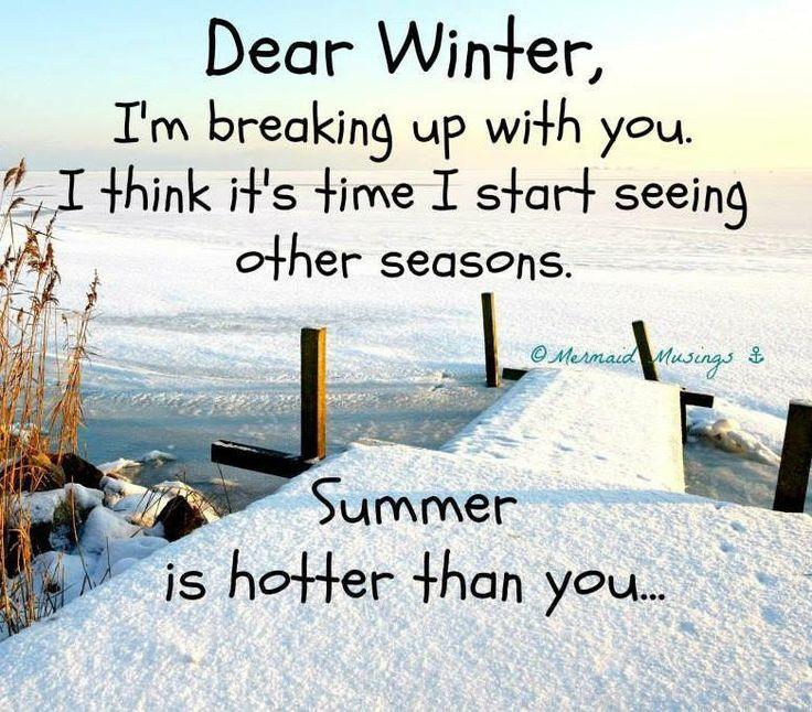 Winter is over