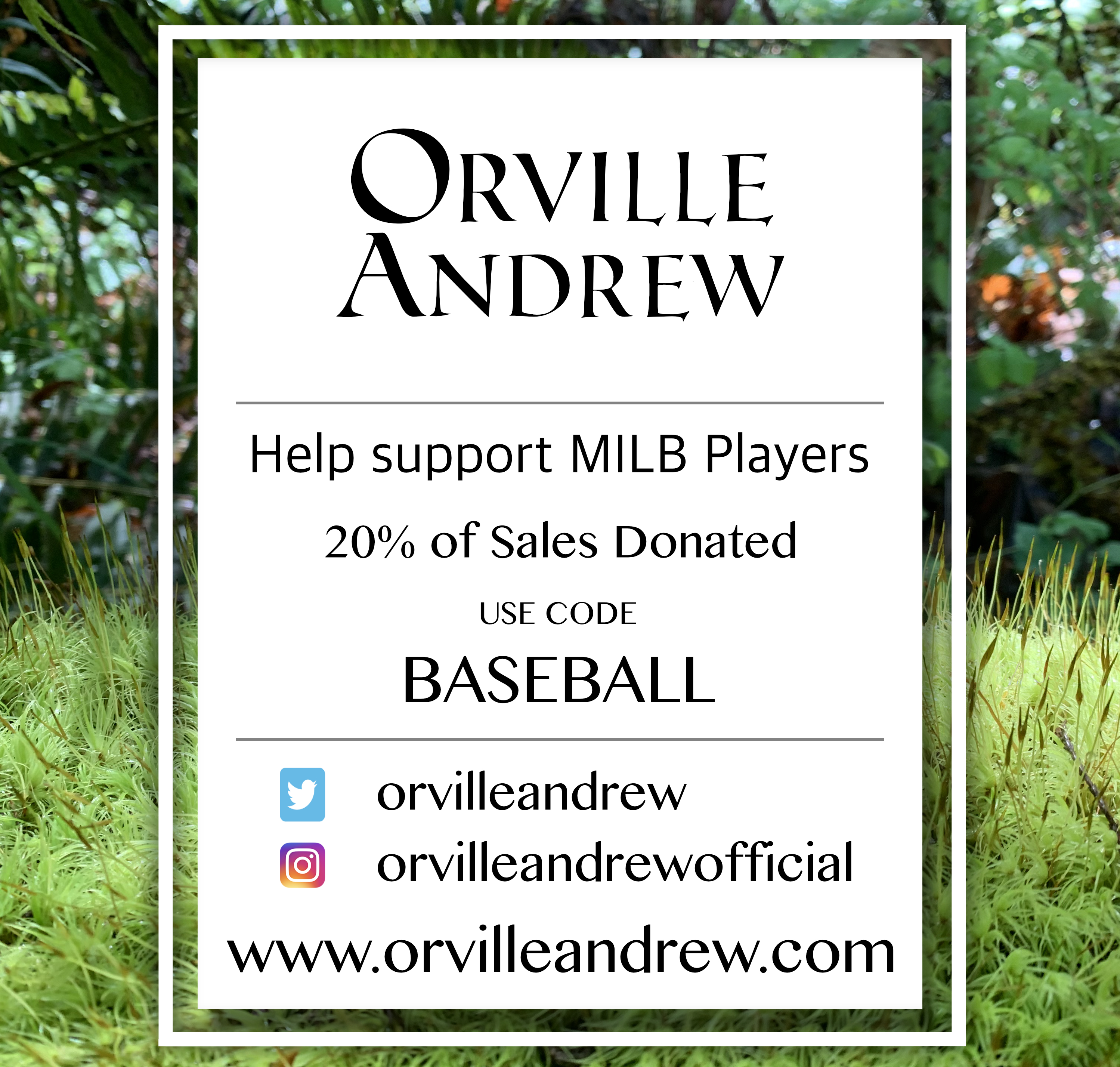 Orville Andrew - Candles by St. Louis Cardinals farmhand Patrick Dayton