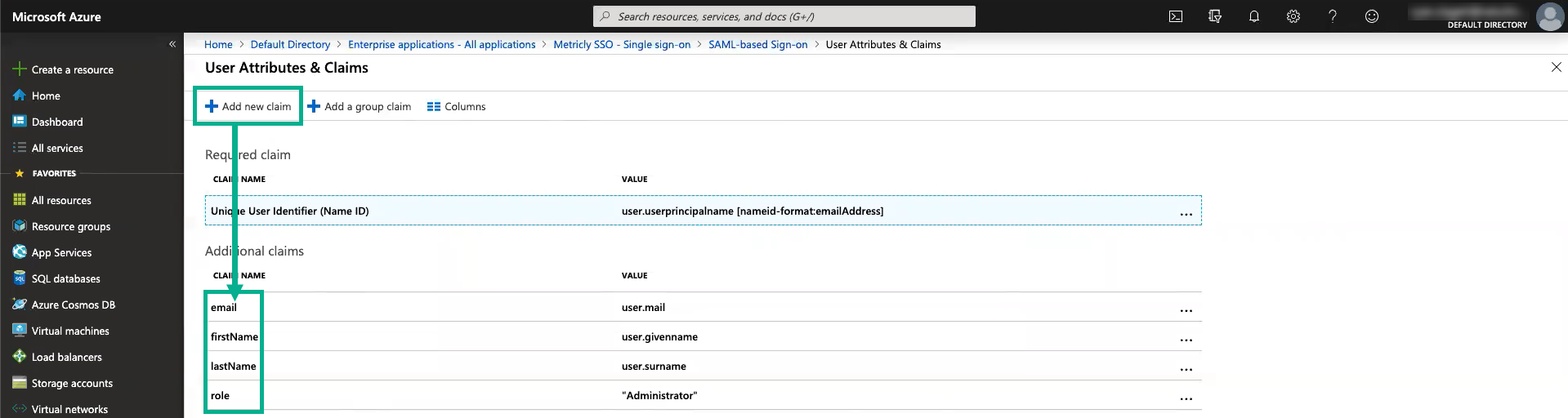azure-add-new-claims