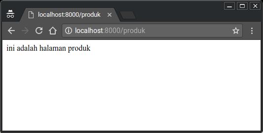 Make a router application at Nodejs