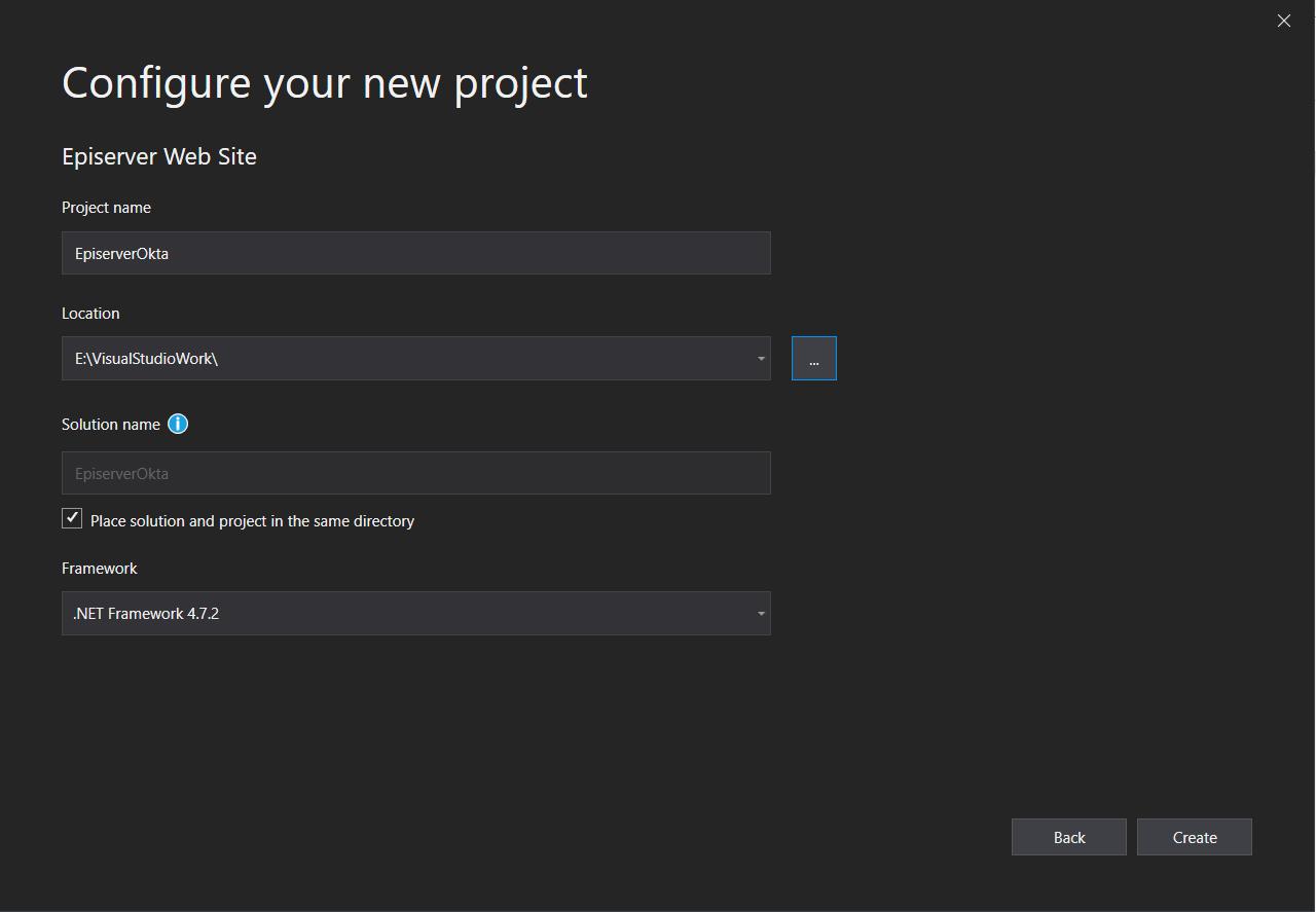 Visual Studio Episerver project configuration