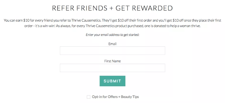 Referral program rewards