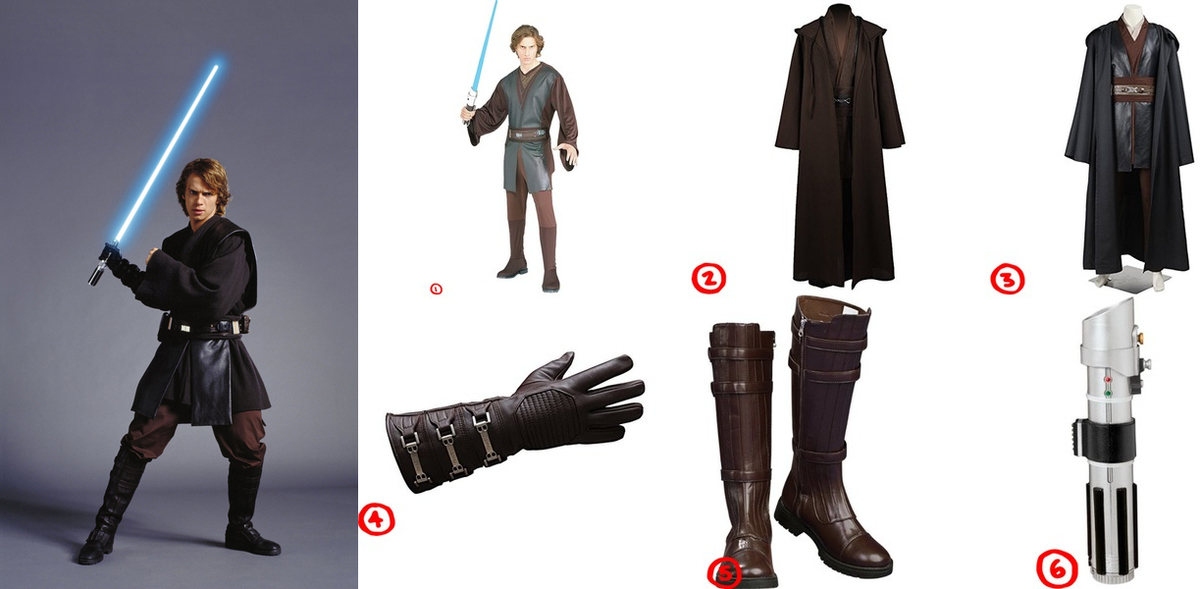 anakin skywalker cosplay costume guide