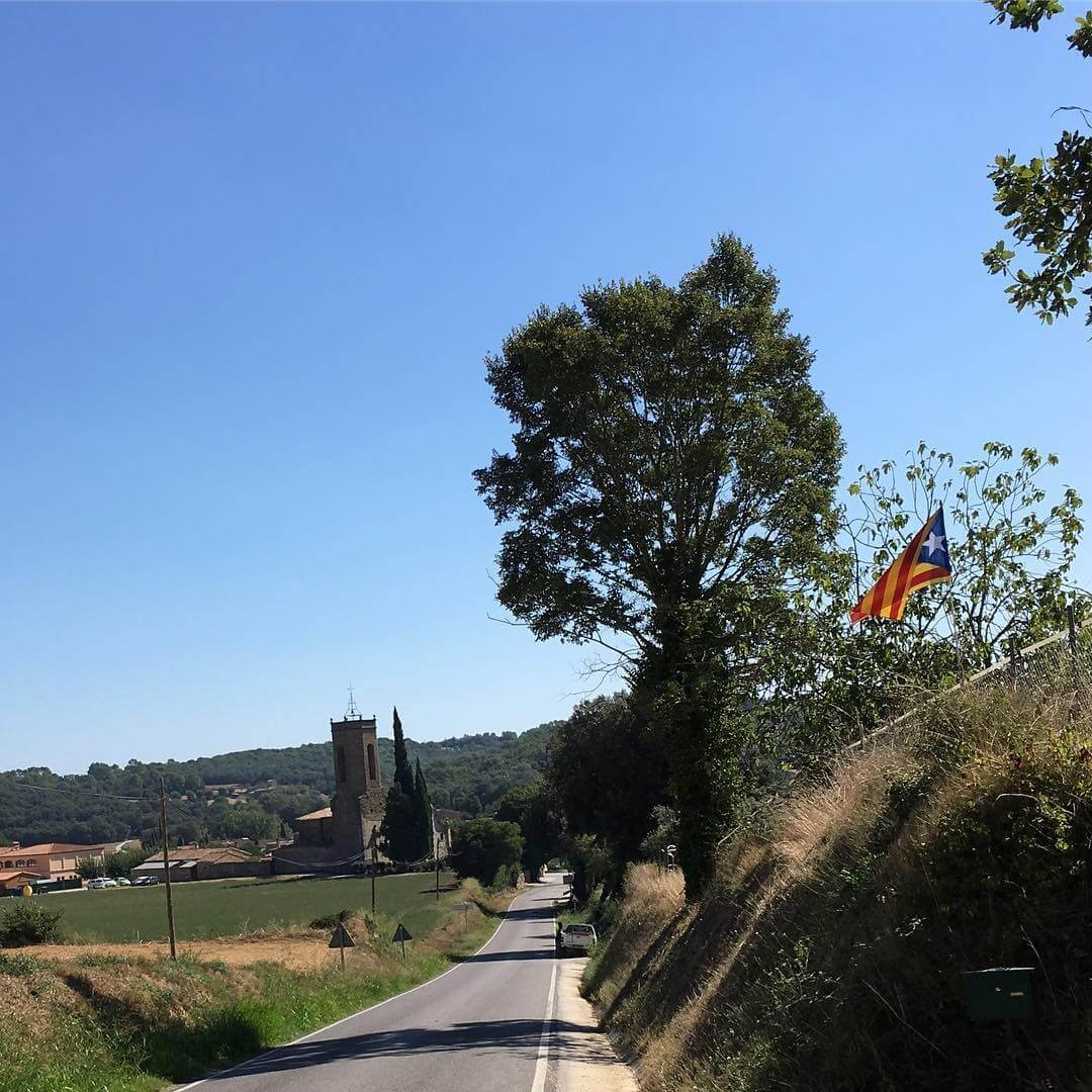 Monells church and countryside.