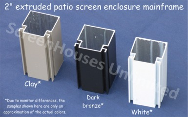 Porch screening kits screen enclosure systems screened walls you may choose to have as many 3 x 68 out swinging knock down aluminum doors as you deem necessary solutioingenieria Images