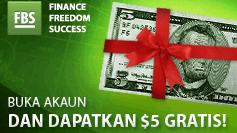 No Deposit Bonus FBS $5