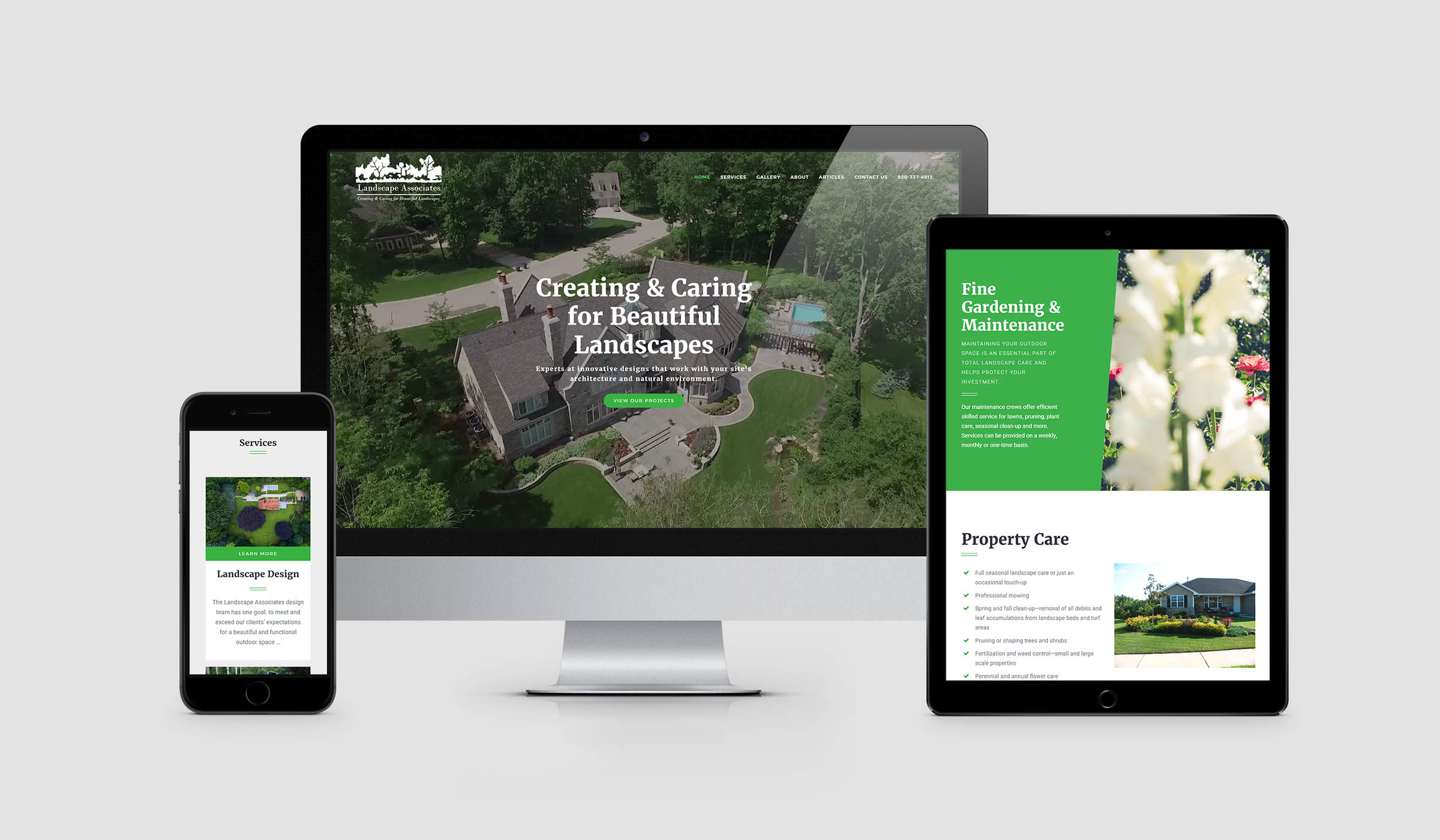 Landscape Associates Website 2017
