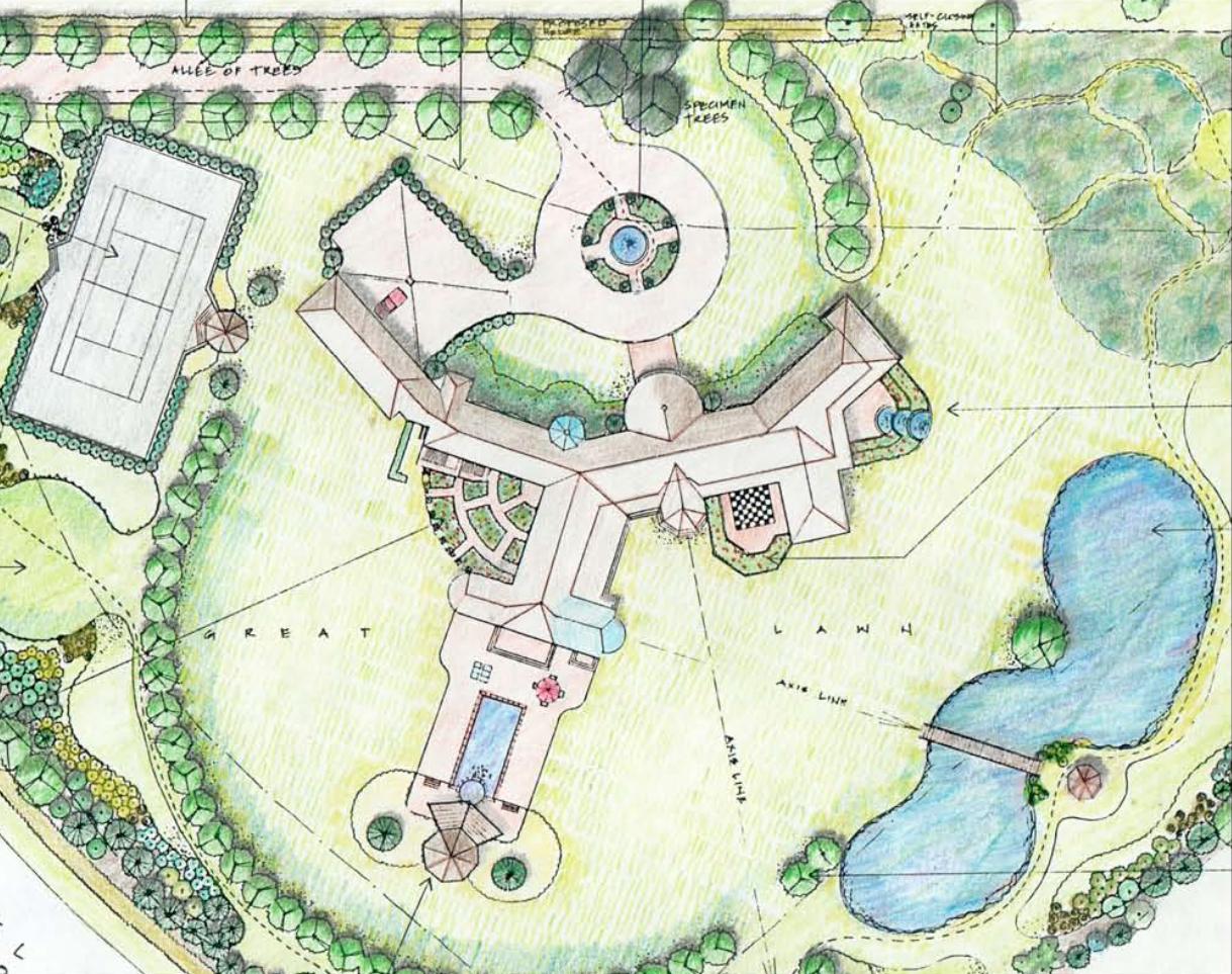 Draft of a proposed project by John Cowen Landscape Associates Ltd.