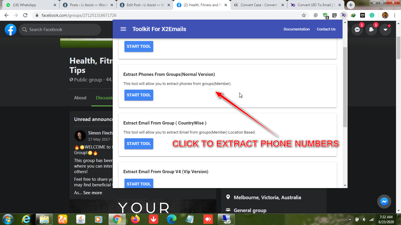 Facebook-Group-Phone-Extractor