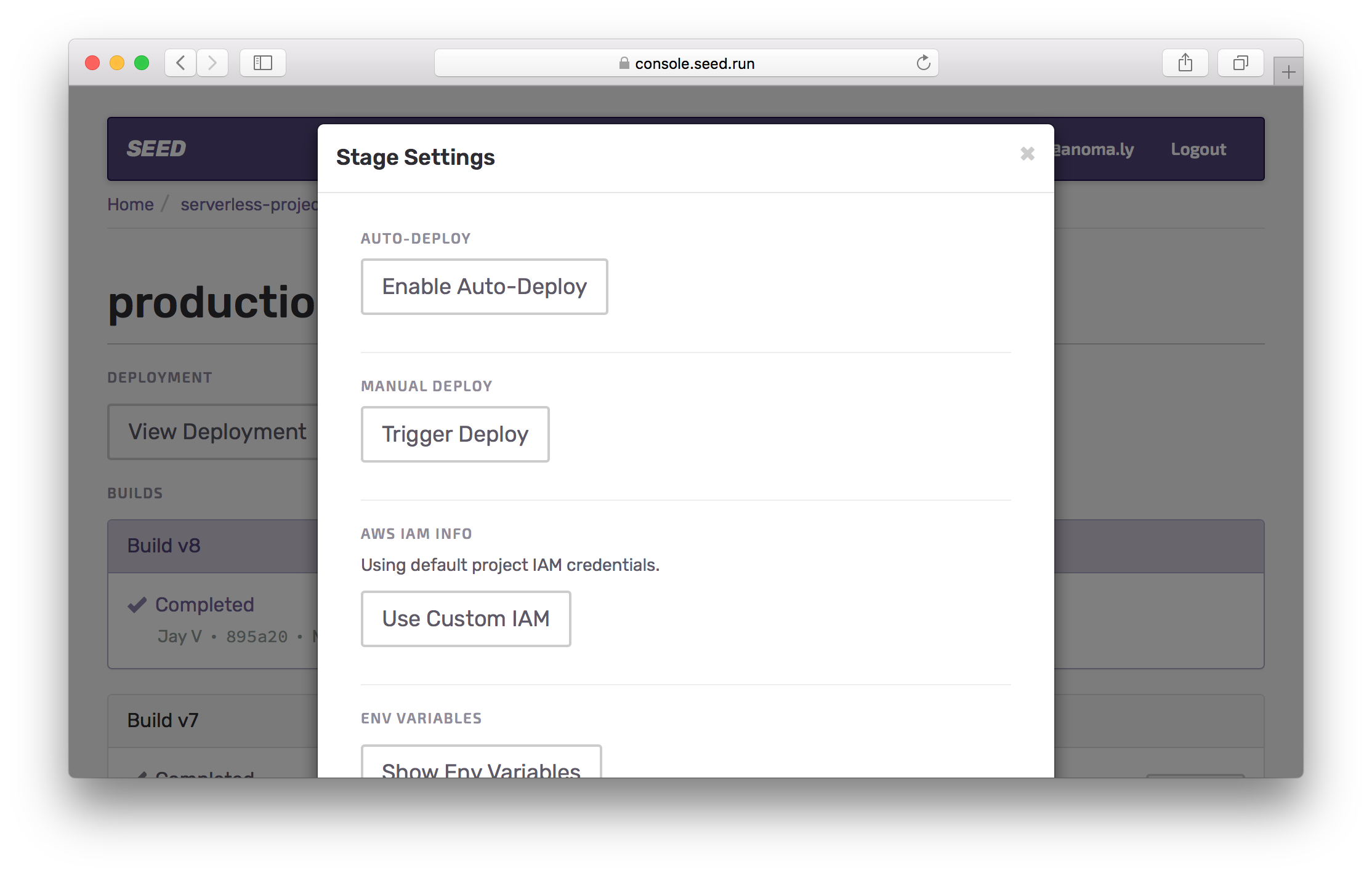 Enable auto-deploy for production