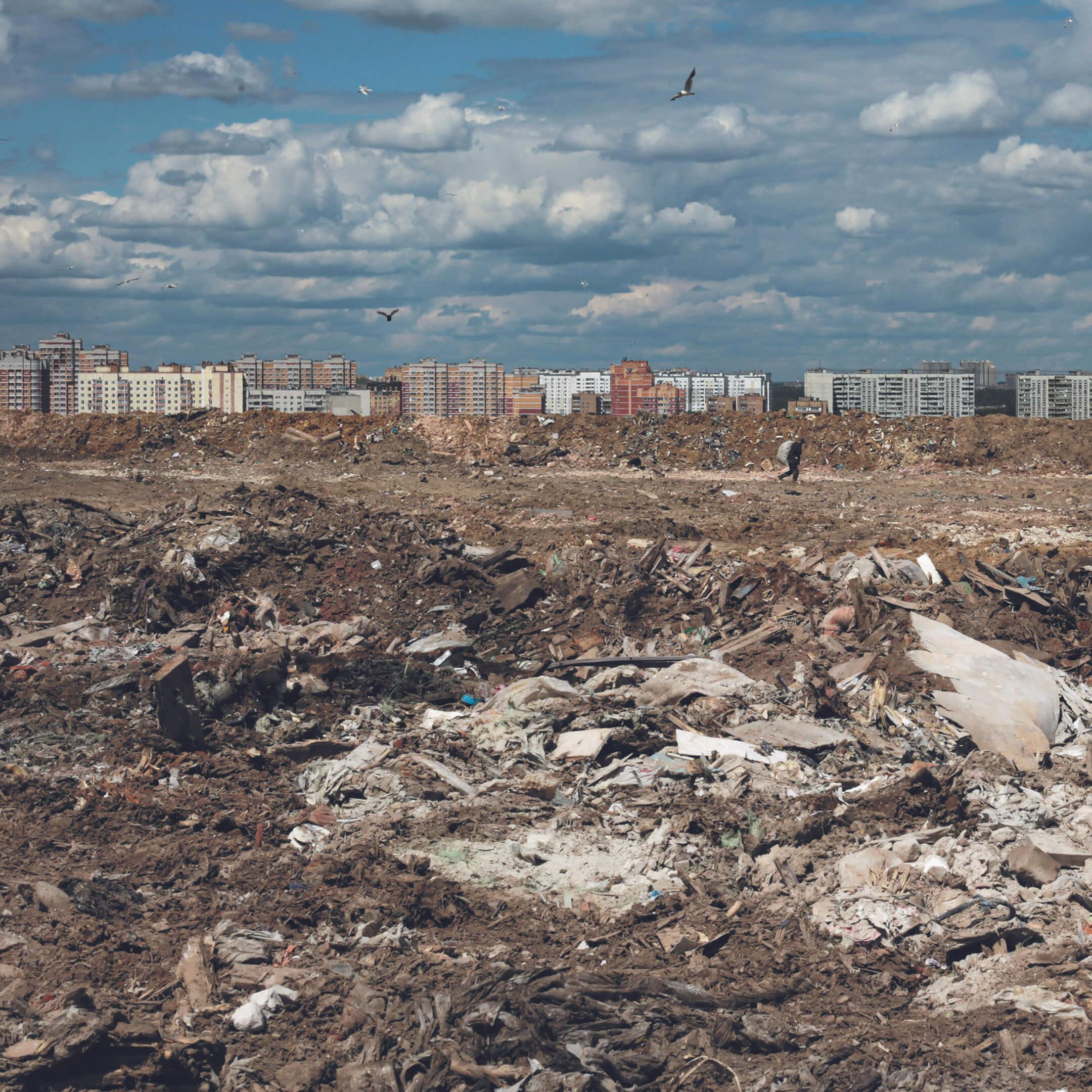Фото изкниги «Страна отходов». Свалка «Кучино» вБалашихе, фотограф Катя Балабан