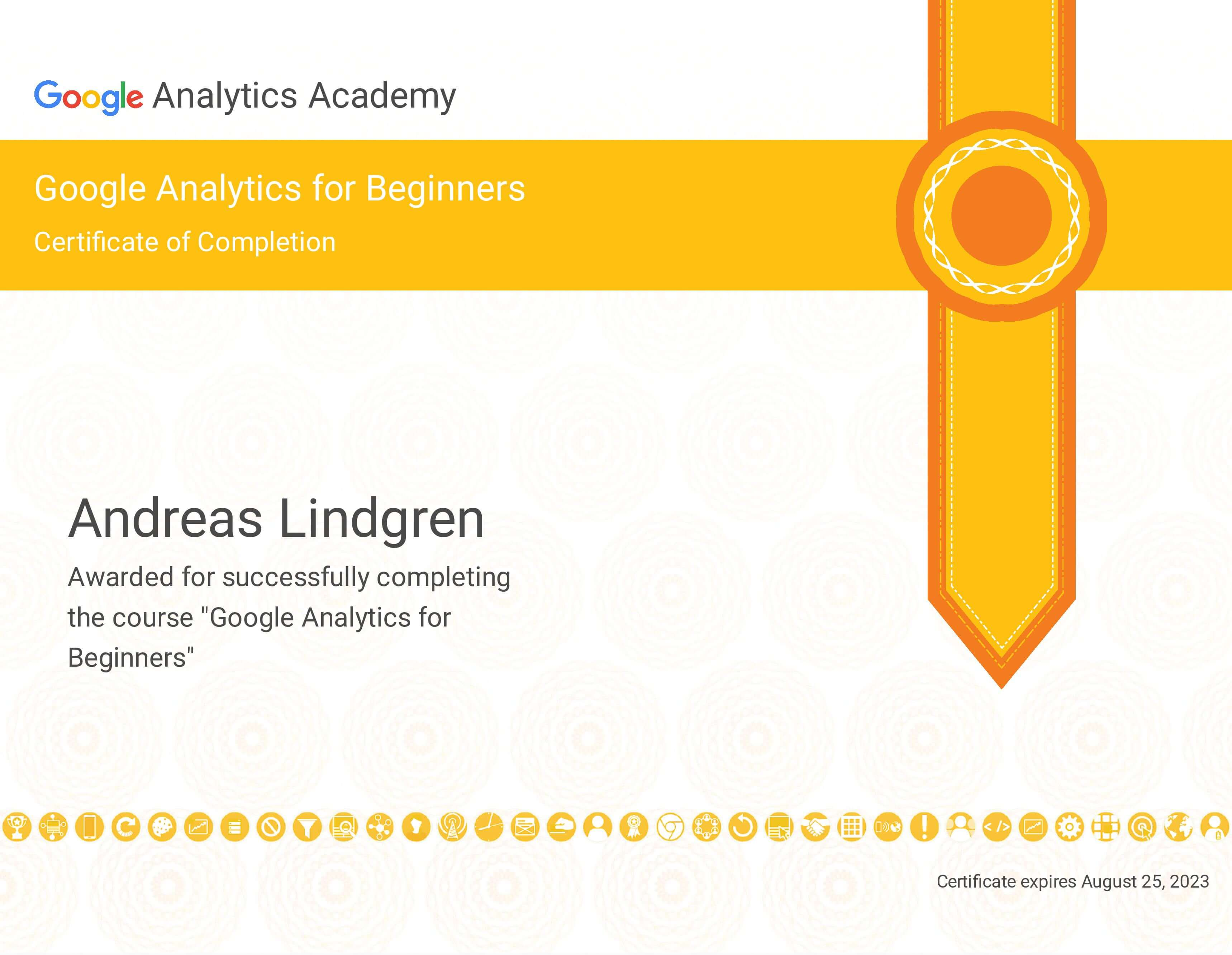 Academy Picture Beginners certificate