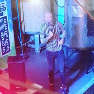 Absolute pleasure to have @olaffalafel at the brewery this evening. I think he is a big fan of our smoked porter...join us next time for another brilliant comedy night from Sam Rhodes Comedy Explosion! #standup #comedy #livestandup #craftbeer #brewery #highwycombe
