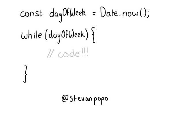while loop, always code