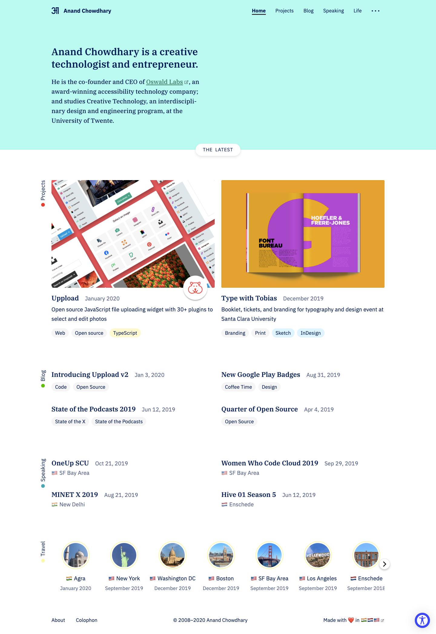 Screenshot of Amsterdam homepage