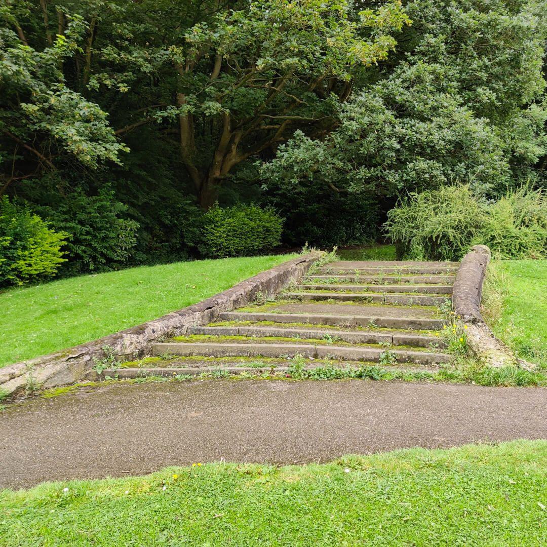 Rodley Park steps
