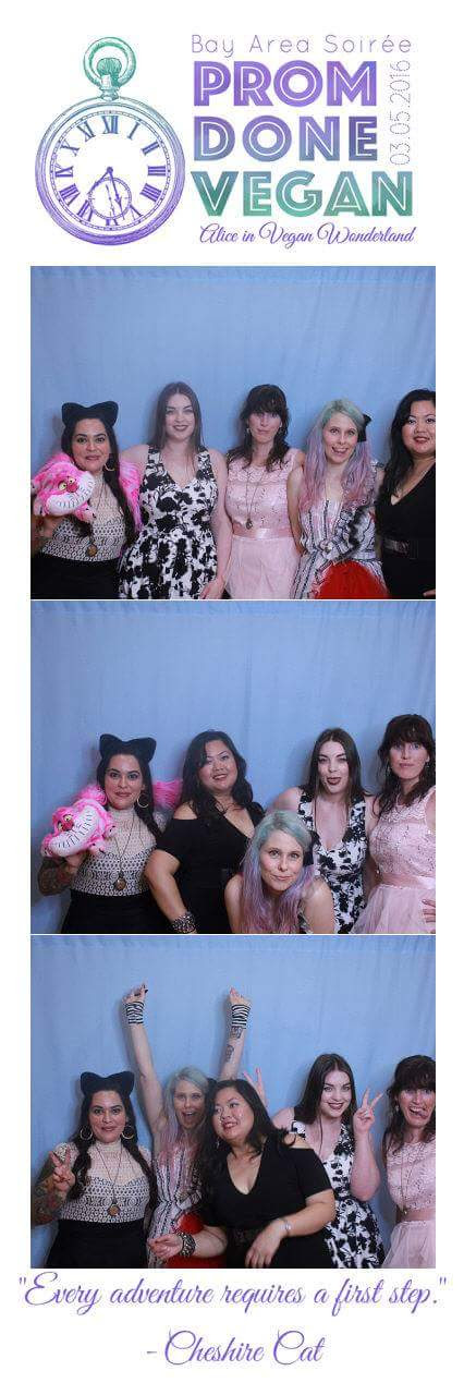 The promettes at Vegan Prom