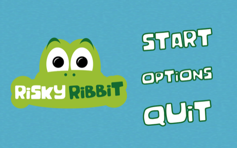 Risky Ribbit Main Menu