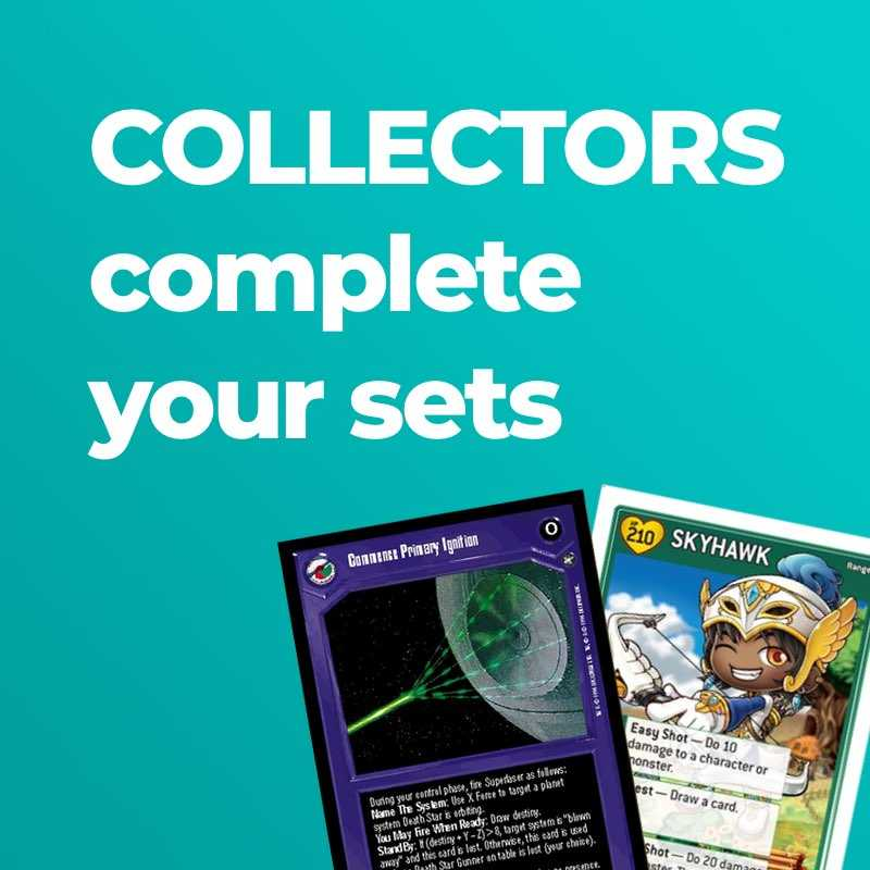 Collectors: Complete your sets