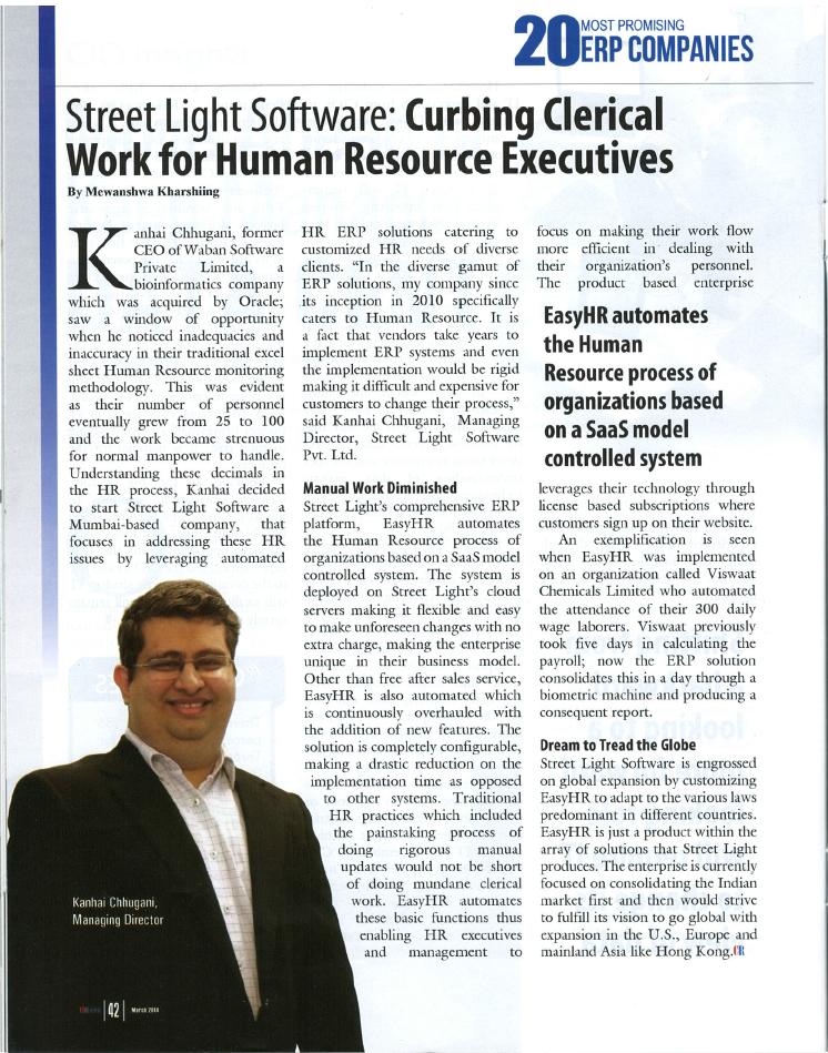 Article in CIO Review India