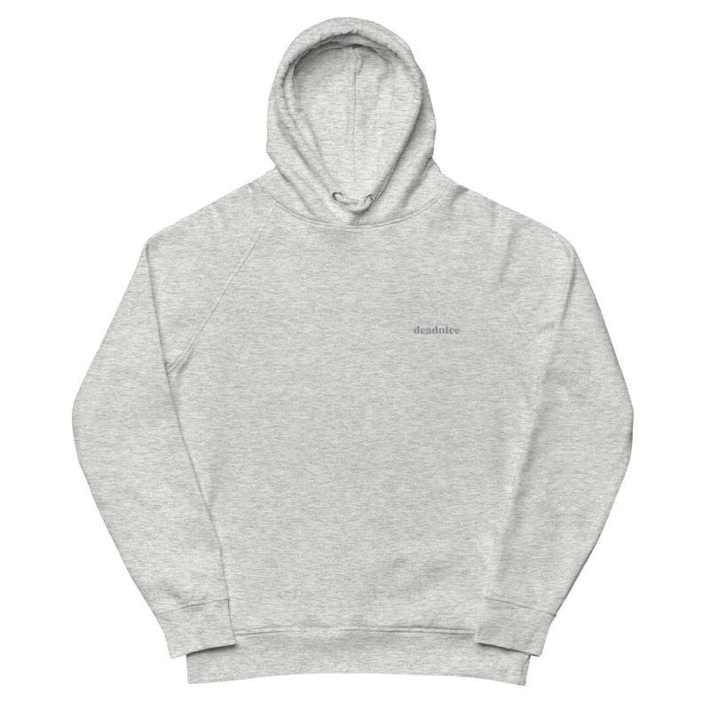 wordmark grey hoodie