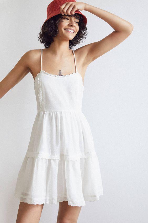 Robe blanche doublée