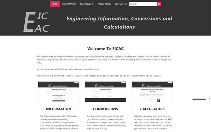 EICAC website frontpage