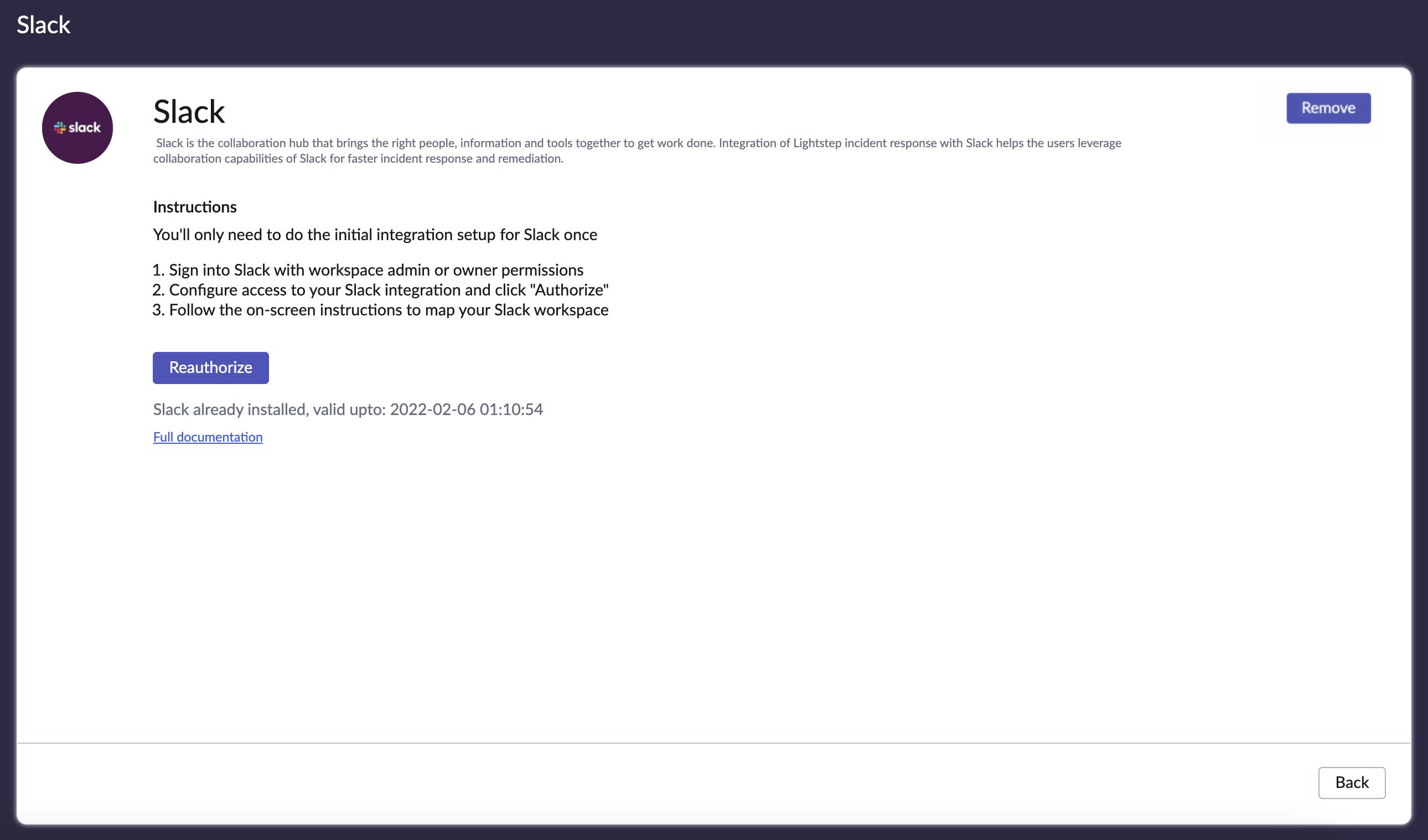 Reauthorize Slack integration.