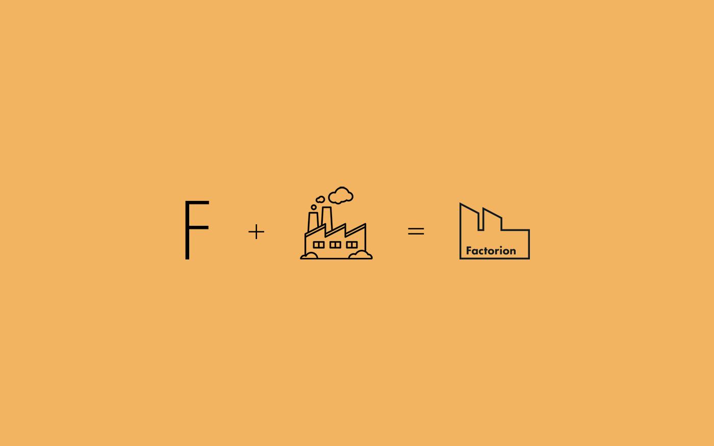 Factorion logo design concept