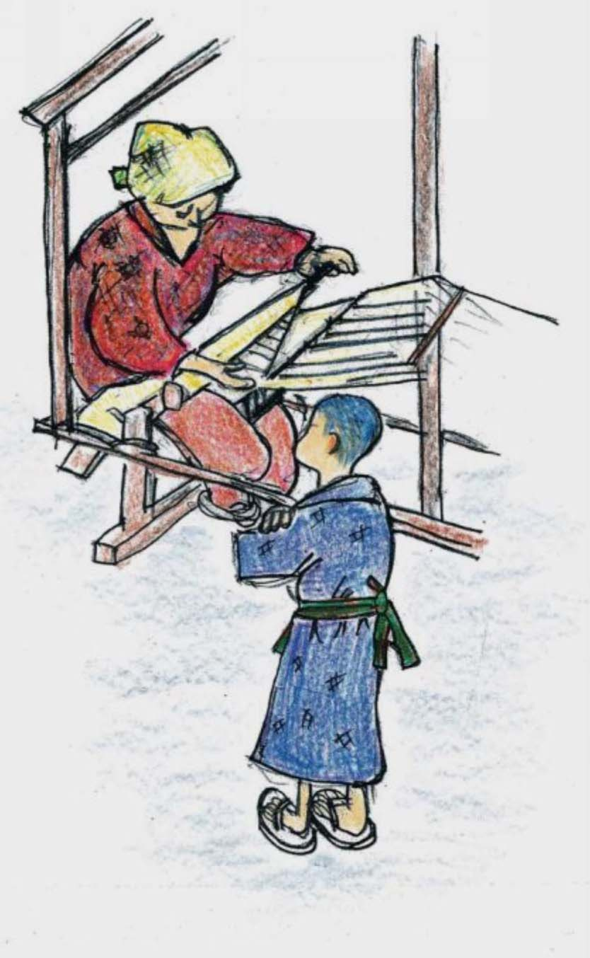 Manually operated wooden shuttlecock loom
