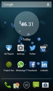 Level Money Android Widget