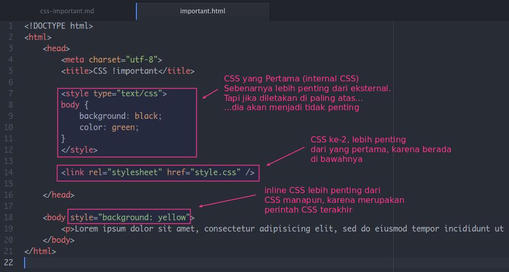 Prioritas CSS dalam Browser