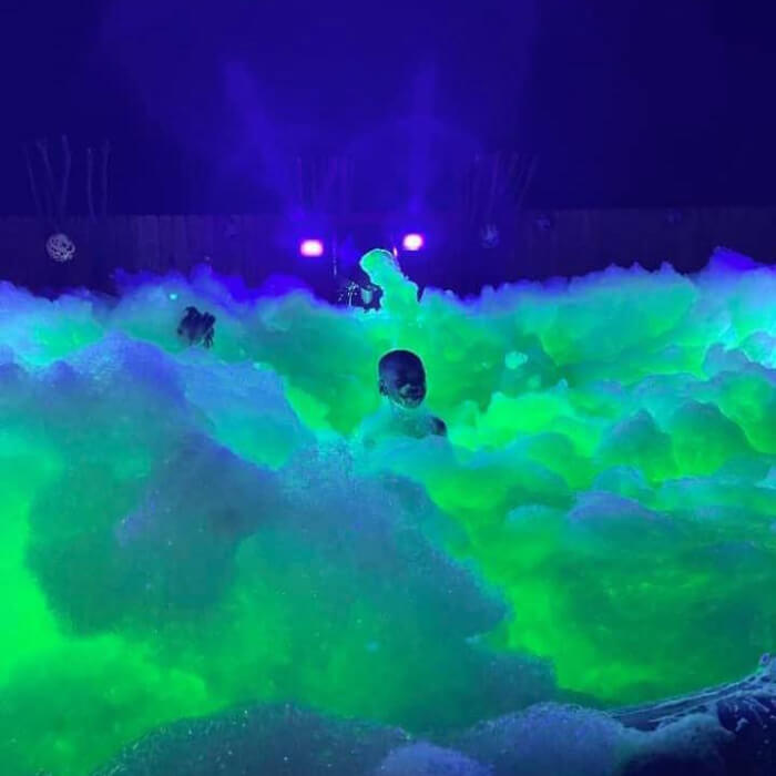 Glow in the dark foam.