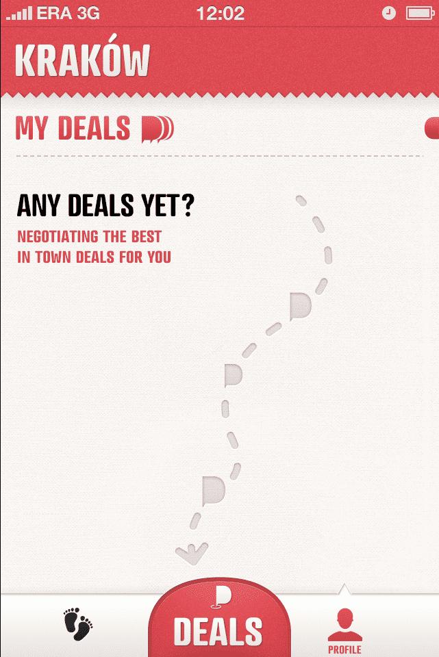 Screenshot of No deals yet