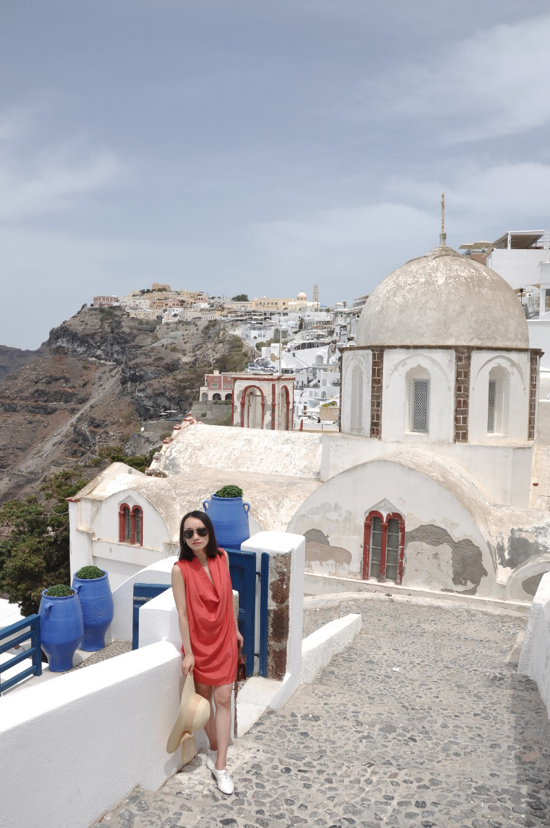 Greetings from Fira, Santorini