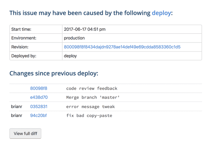 Link errors and deploys