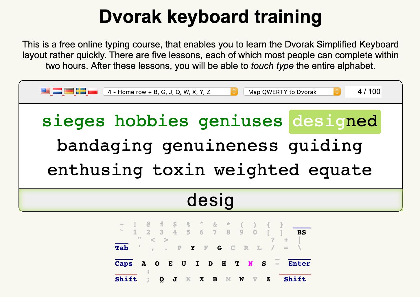 Learn Dvorak Website