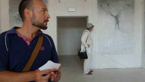 Diego in visita alla Biennale di Disegno di Rimini