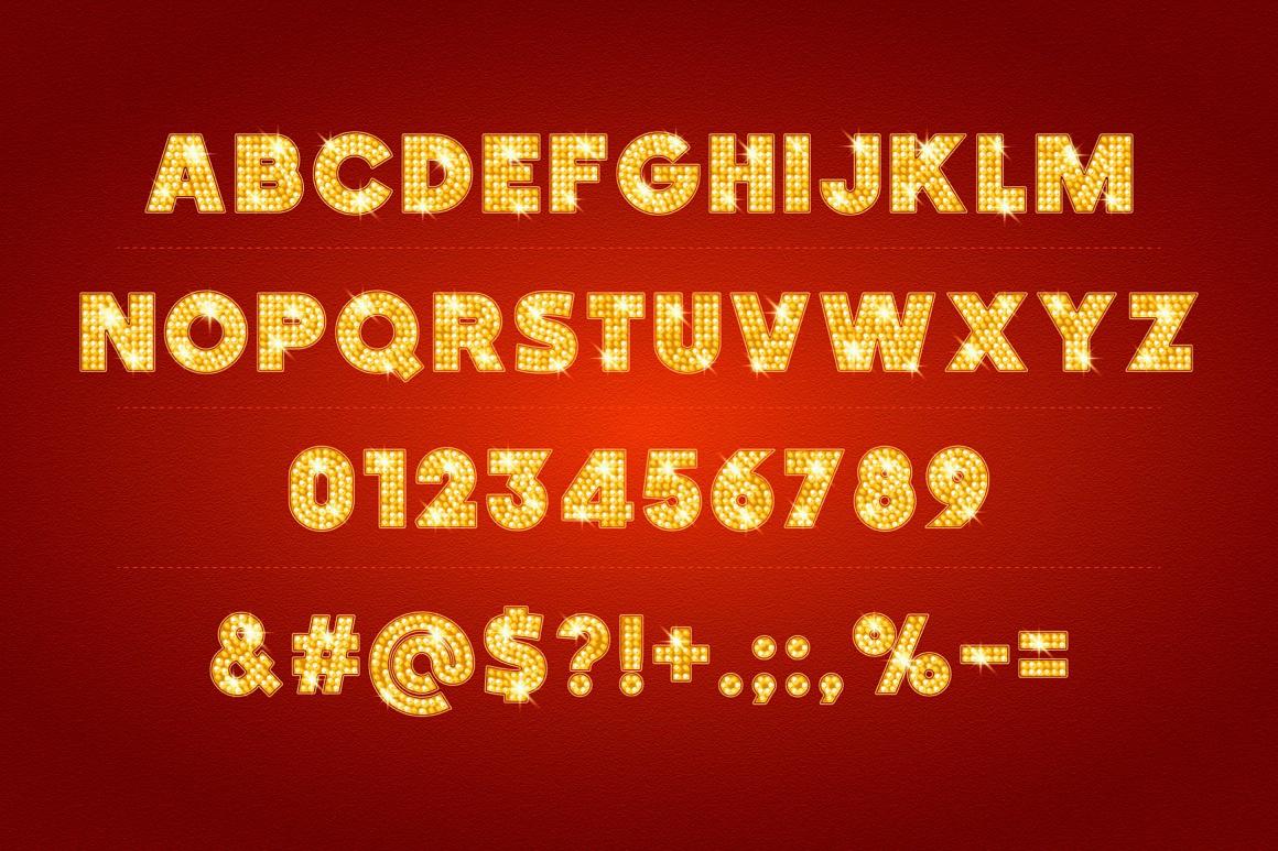 Shiny Gold Lamp Alphabet images/promo_2_typefaces.jpg