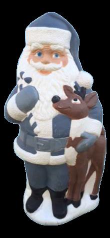 Santa With Reindeer Blue photo