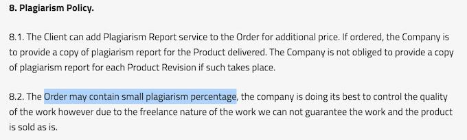 bestdissertation.com has poor plagiarism guarantee