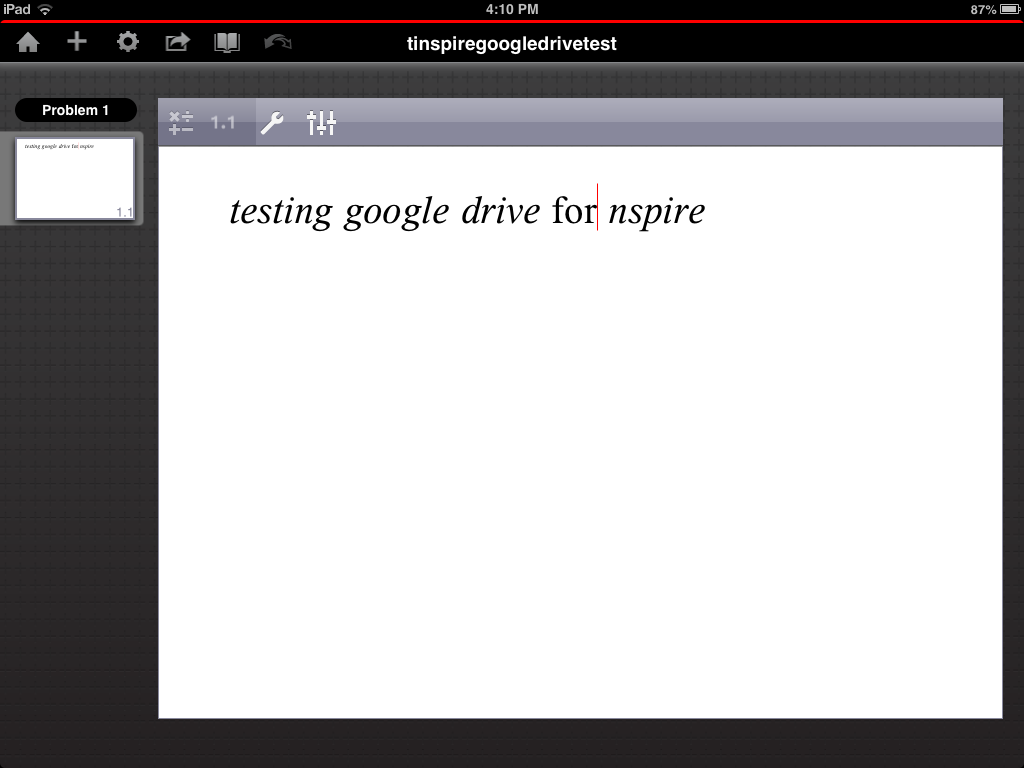 TI-Nspire ipad Google Drive