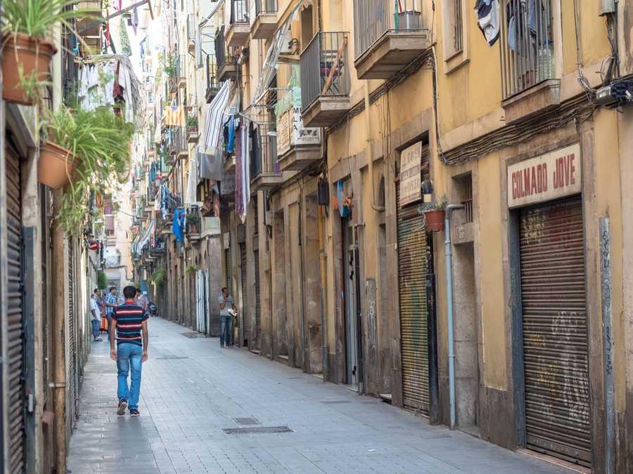 Cozy streets in Barcelona