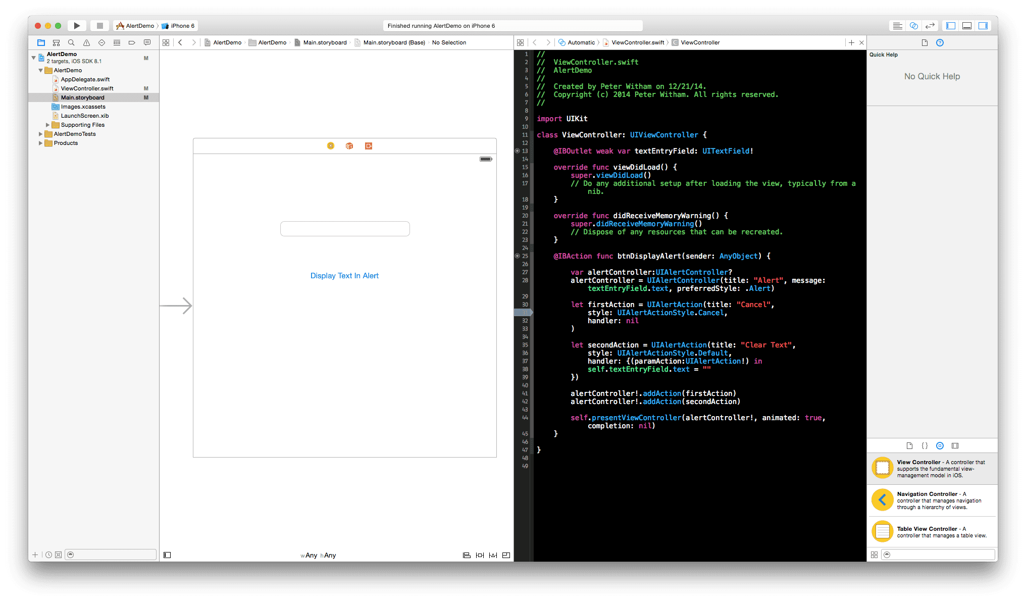 03 Storyboard and complete code