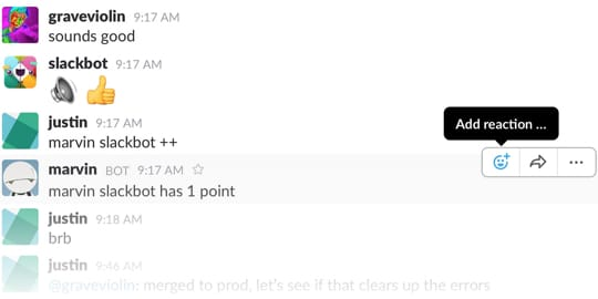 Slack communication