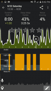 Sleep as Android Day View